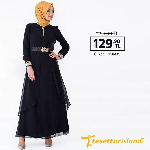 cb7647b52c013 Nayla Collection - Tüllü Dantel Detaylı Siyah Elbise Ürün Kodu : 95843S